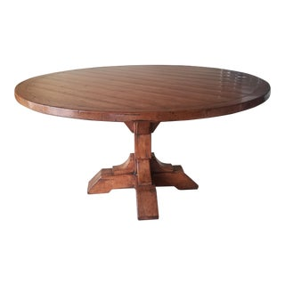 Guy Chaddock English Country Pedestal Table For Sale