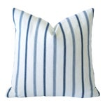 French Blue Mattress Ticking Pillow Cover 22x22
