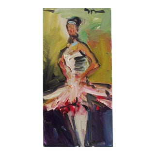 """""""The Ballet Dancer"""" Oil on Canvas Painting For Sale"""