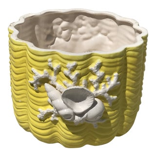 1980s Vintage Fitz and Floyd Seashell Planter For Sale
