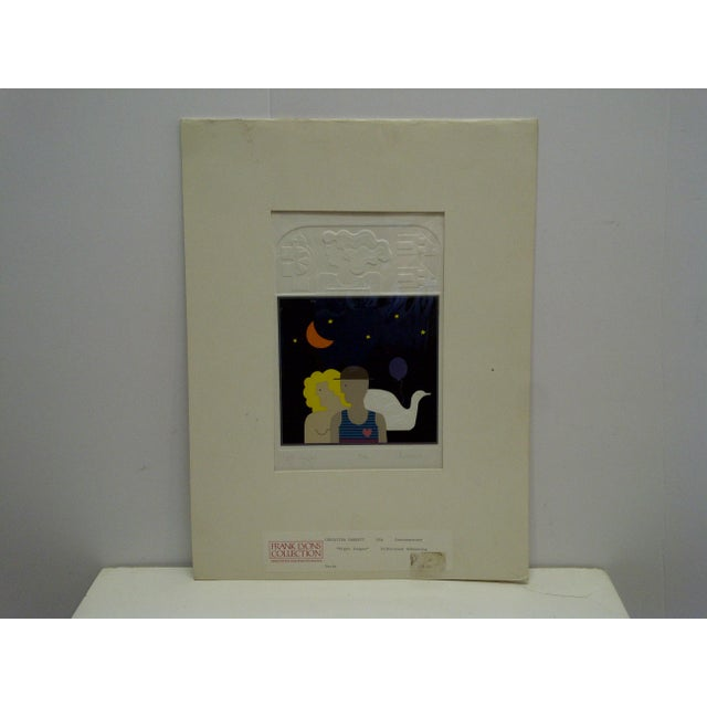 "20th Century Silkscreen Print ""Night Images"" by Christina Parrett For Sale - Image 9 of 9"