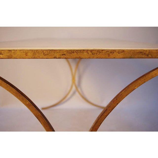 French Gilt Leather Top Desk For Sale In New Orleans - Image 6 of 8