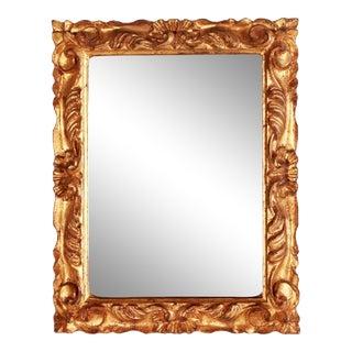 1950s Italian Florentine Gold Gilded Carved Dresser/Vanity Mirror For Sale