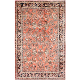 1980s Vintage Mahal Handmade Wool Rug- 5′ × 9′ For Sale