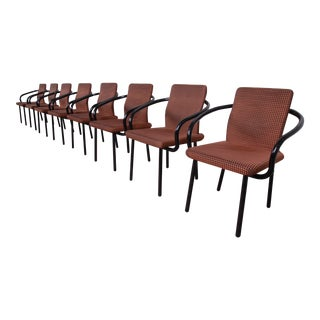 Ettore Sottsass for Knoll Mandarin Armchairs, Set of Eight For Sale