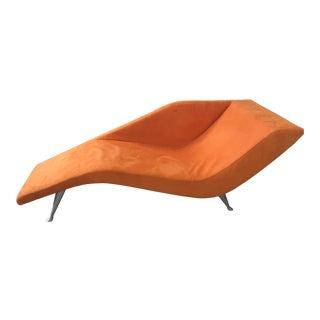 Custom Orange Chaise Lounge For Sale