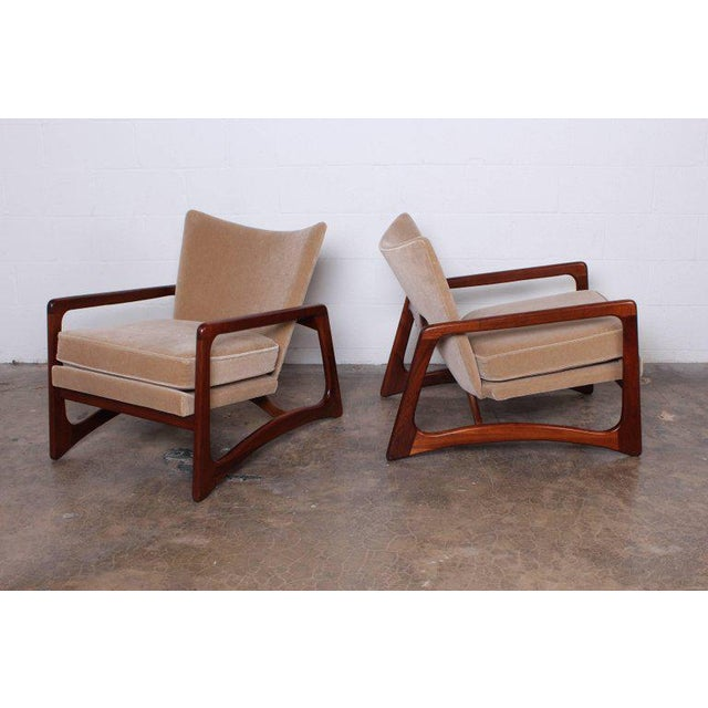 Pair of Lounge Chairs by Adrian Pearsall For Sale In Dallas - Image 6 of 11