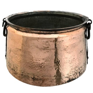 Hand-Hammered Copper Cauldron | Antique Copper Cauldron For Sale