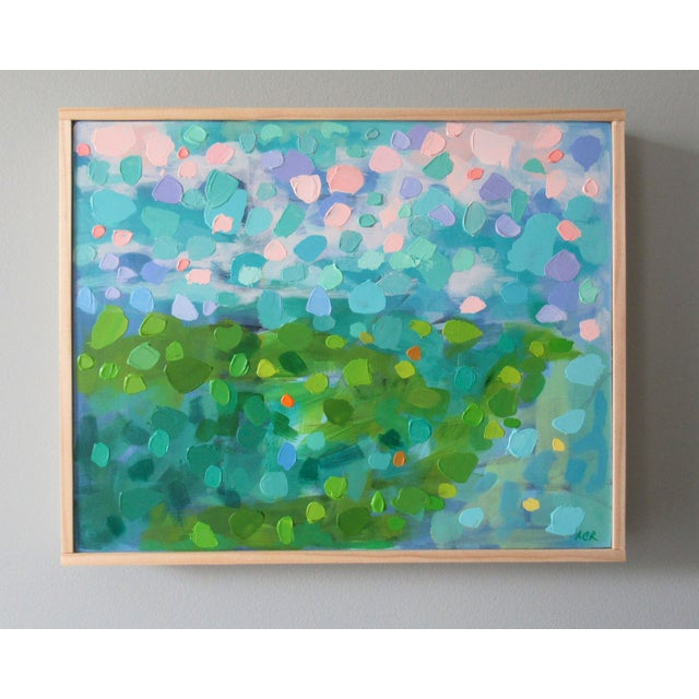 A vivid, bright abstract painting about feeling transformed by the beauty of nature. Inspired by Vincent van Gogh. This...