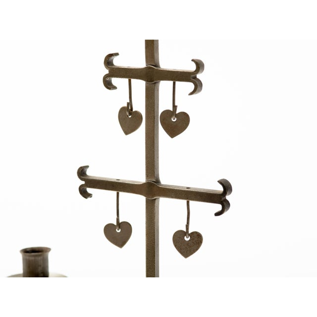Mid 20th Century Swedish 1960s Steel Hearts Candelabra For Sale - Image 5 of 10