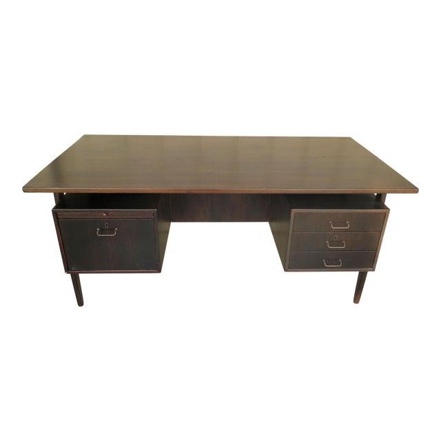 Danish Floating Top Executive Desk For Sale