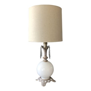 French Style White Lamp For Sale