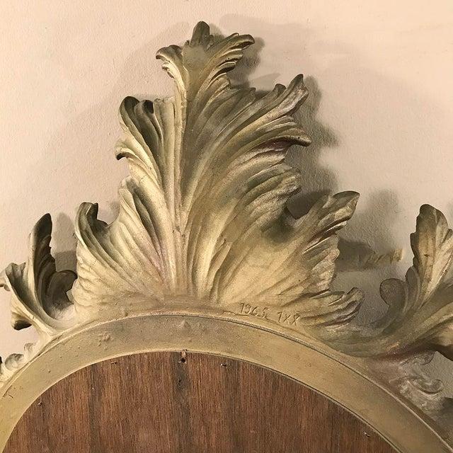 Mid-Century Italian Venetian Gilded Mirror For Sale - Image 11 of 13