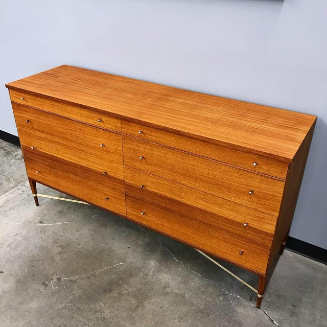 Calvin Furniture Newly Refinished 8 Drawer Mahogany Dresser by Paul McCobb for Calvin For Sale - Image 4 of 12