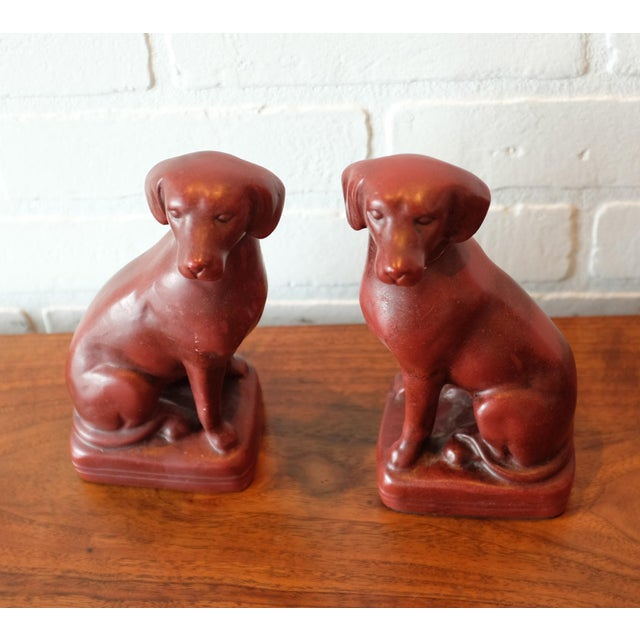 Vintage Red Dog Bookends - a Pair For Sale - Image 4 of 9