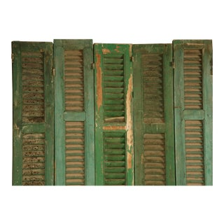 French Shutters in Original Paint - set of 8