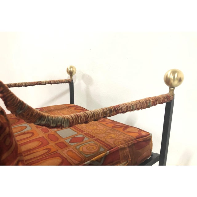 1960s Pair of Italian Hollywood Regency Savonarola Chairs For Sale - Image 5 of 8