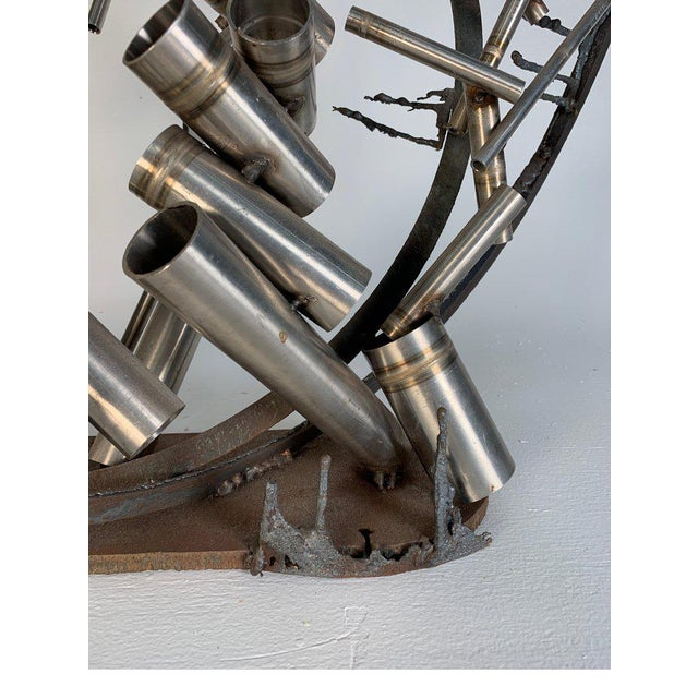 """Late 20th Century Late 20th Century D. Phillips """"Gates"""" Welded Steel Sculpture For Sale - Image 5 of 11"""