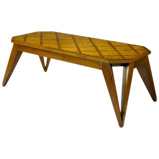 Bench Built Parquetry Coffee Table in the Manner of Paul Laszlo For Sale