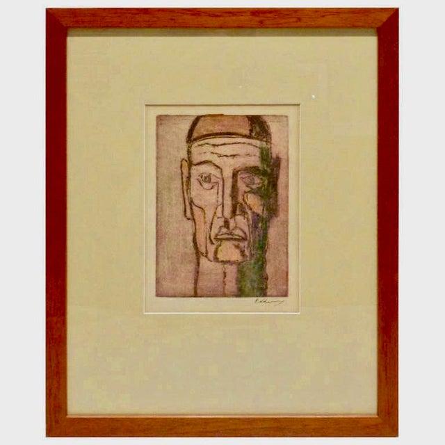 Original Cubist Movement Block Print Portrait For Sale - Image 9 of 9