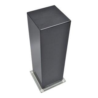 Mid-Century Modern Black Clear Lucite Acrylic Pedestal