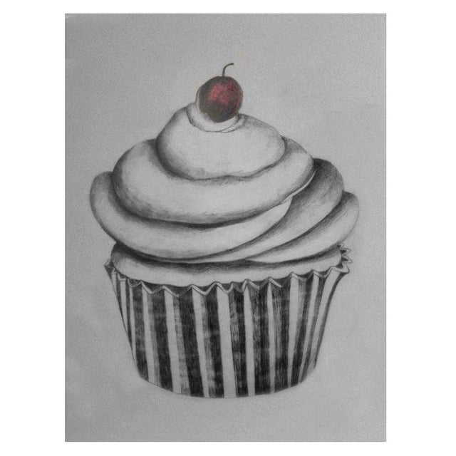 Cupcake with Red Cherry by Sylvia Roth - Image 1 of 2