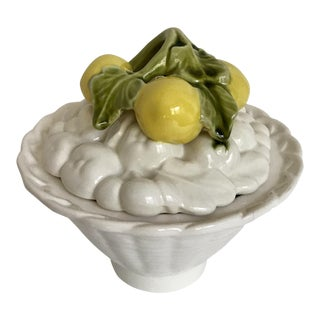 Lemon Topped Lidded Dish