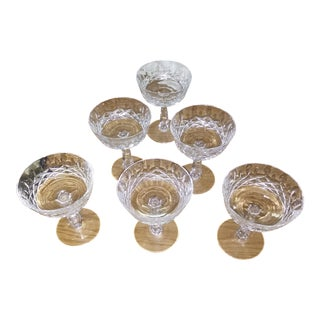 Cut Crystal Goblets or Sherbet Glass - a Set of Six For Sale
