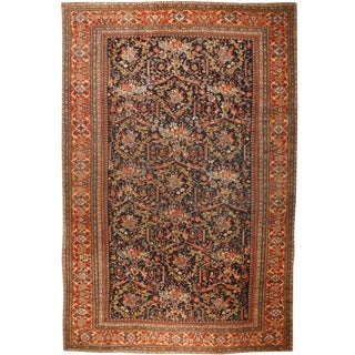 Exceptional Oversize Antique 19th Century Persian Sultanabad Carpet For Sale