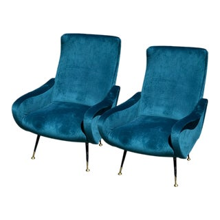 Pair of Vintage Italian Armchairs For Sale