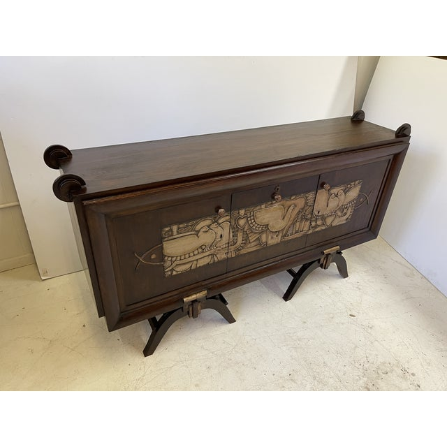French Art Deco Bar Cabinet With Mirrored Interior For Sale - Image 12 of 13