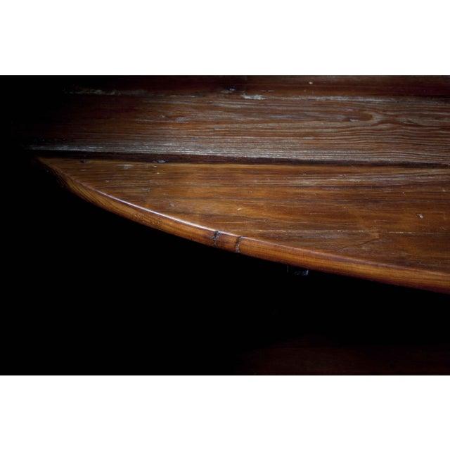 Mid-Century Reclaimed Wood Surfboard Coffee Table - Image 5 of 11