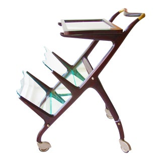 Cesare Lacca Mid-Century Italian Sculptural Bar Cart/Tea Trolly For Sale
