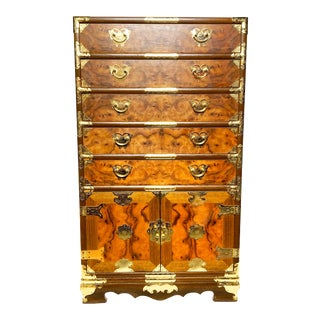 Vintage Mid Century Wooden Storage Chest of Drawers For Sale