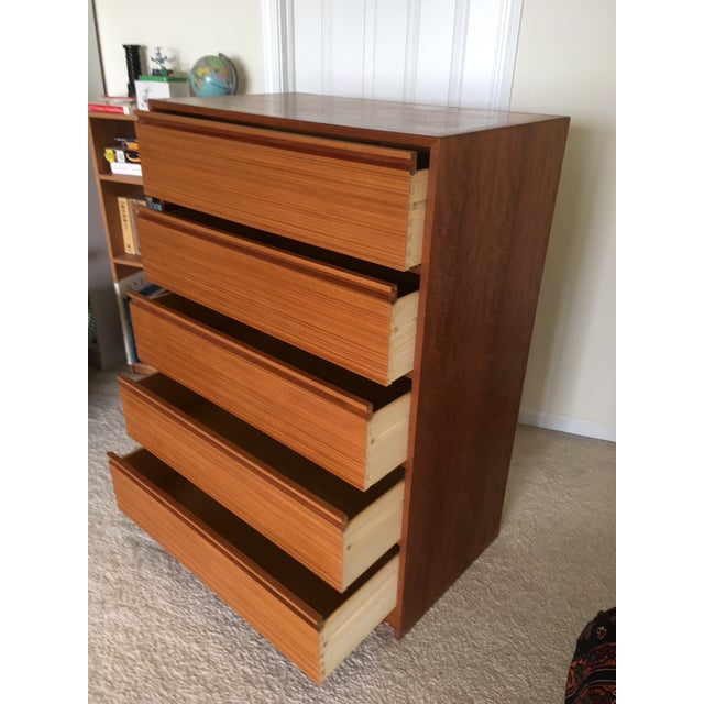 20th Century Danish Modern Teak 5-Drawer Chest For Sale In Chicago - Image 6 of 13