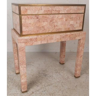 Mid-Century Modern Tessellated Stone Box on a Stand by Maitland-Smith Preview