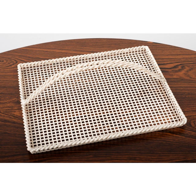 Mid-Century Modern Mathieu Mategot Serving Tray in Enameled Perforated Metal, France 1950s For Sale - Image 3 of 4