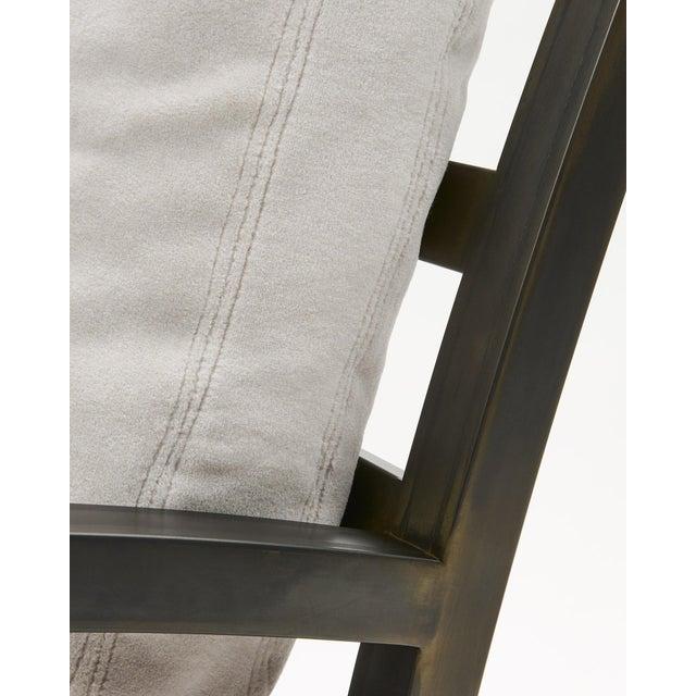 Gil Melott Bespoke Tx6315 Handmade Custom Steel Urban Lounge Chair for Studio 6f For Sale In Chicago - Image 6 of 7