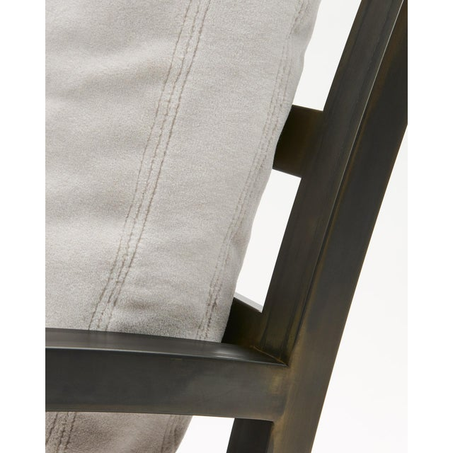 Pair of Grm Bespoke, Handmade Custom Steel Urban Lounge Chair for Studio 6f For Sale In Chicago - Image 6 of 7