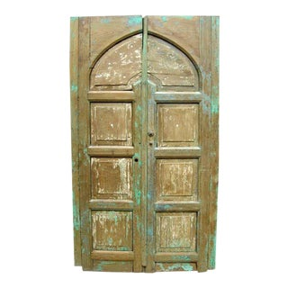 Pair of Antique 19th Century Painted Portons - Large Doors For Sale