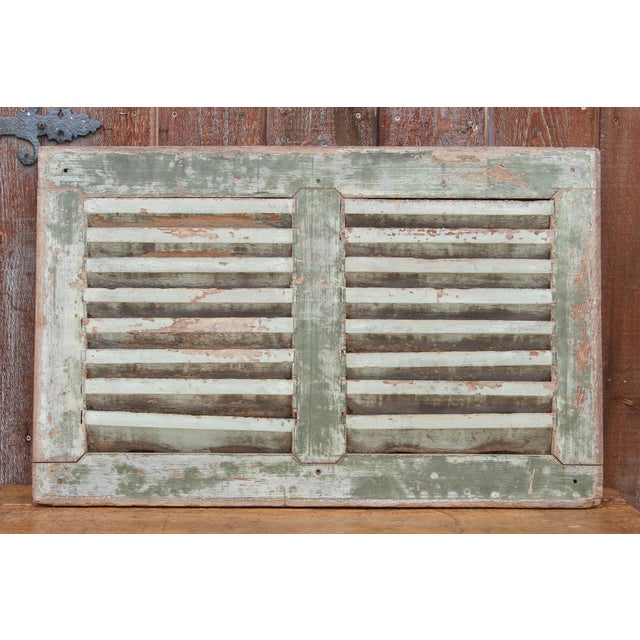 Teak 19th Century Rustic Primitive Window Shutter For Sale - Image 7 of 9