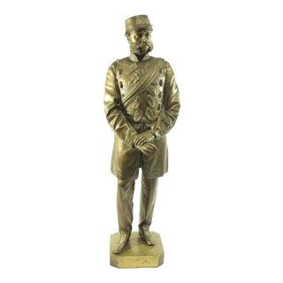 Bronze Portrait Figure of a British Hac Military Officer, T. Fowke London, 1865