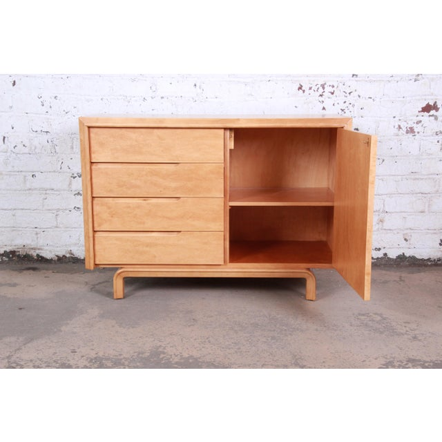 1950s Edmond Spence Swedish Modern Maple Sideboard Credenza, Newly Refinished For Sale - Image 5 of 13