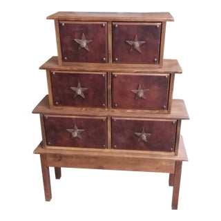 Apothecary Stacked Chest of Drawers For Sale