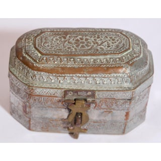 Anglo-Indian Handcrafted Tinned Copper Metal Tea or Spices Caddy Box Preview