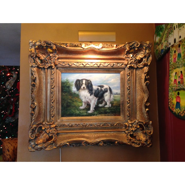Oil Portrait King Charles Spaniel With Gold Frame - Image 2 of 5