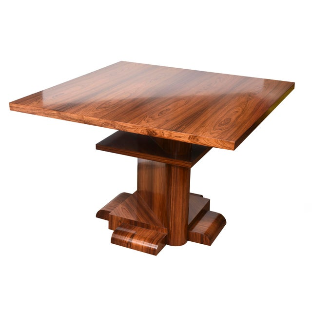 1980s Architectural Larry Lazlo/ Bexley Heath for Widdicomb Square Rosewood Center Table For Sale - Image 5 of 10