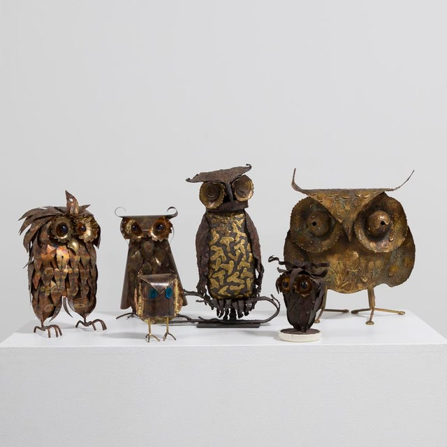 A Brutalist Owl by C. Jere Signed 1968 For Sale - Image 5 of 6