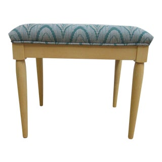Ethan Allen Flame Stitch Upholstered Foot Stool