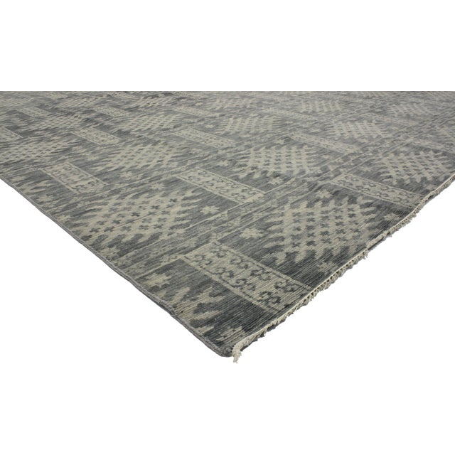 Transitional Gray Area Rug - 10' X 14' - Image 2 of 3